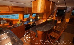 74′ Power Catamaran Internal galley