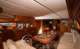 74′ Power Catamaran Internal galley internal