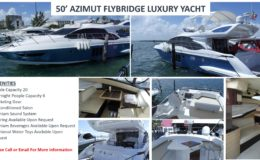 50′ Azimut Flybridge Luxury Yacht
