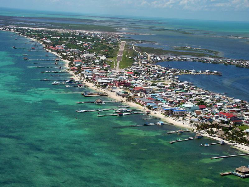 Belize from the air