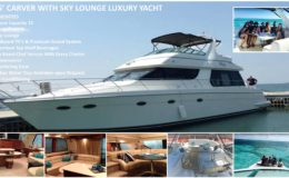 55′ Carver With Sky Lounge Luxury Yacht