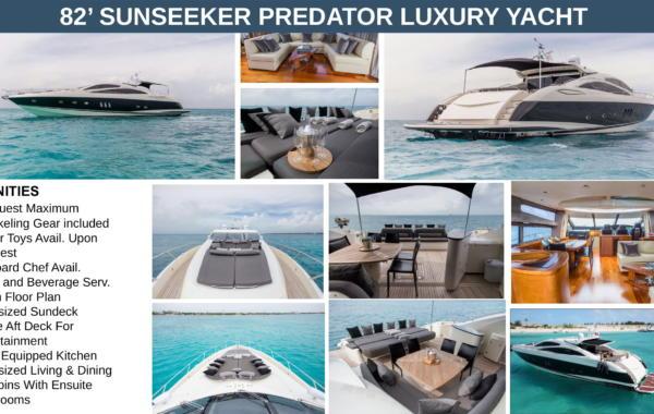 82' Sunseeker Predator Luxury Yacht