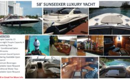 58′ Sunseeker Luxury Yacht