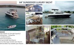 64′ Sunseeker Luxury Yacht