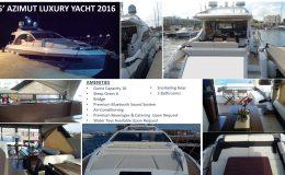 2016 55′ Azimut Luxury Yacht