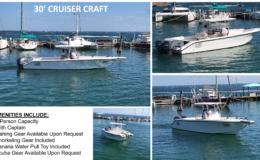 30′ Cruiser Craft Charter Boat