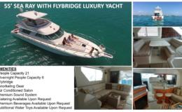 55′ Sea Ray with Flybridge Luxury Yacht