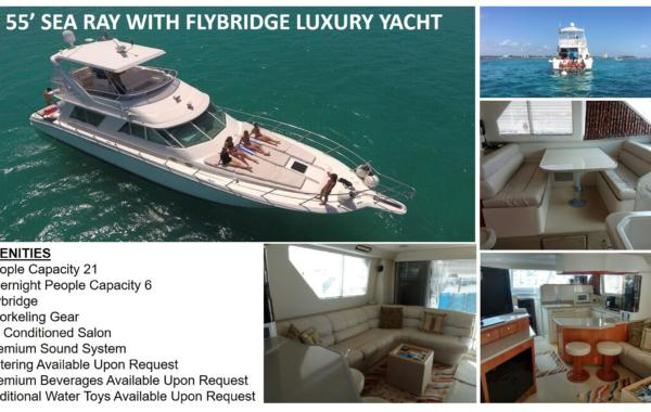 55' Sea Ray With Flybridge Luxury Yacht