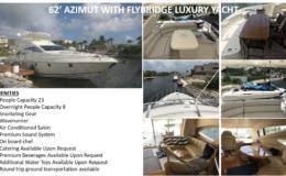 62′ Azimut with Flybridge Luxury Yacht