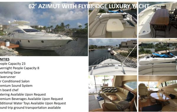 62' AZIMUT WITH FLYBRIDGE LUXURY YACHT