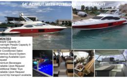 64′ Azimut With Flybridge Luxury Yacht Red