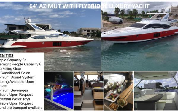 64′ Azimut With Flybridge Luxury Yacht