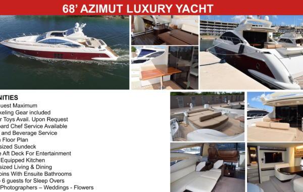68' Azimut Luxury Yacht
