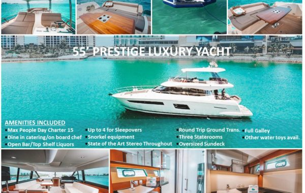 55' Prestige WithFlybridge Luxury Yacht