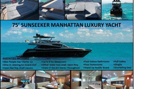 75' Sunseeker Manhattan Luxury Yacht