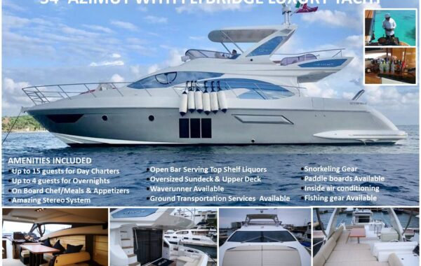 54′ Azimut With Flybridge Luxury Yacht