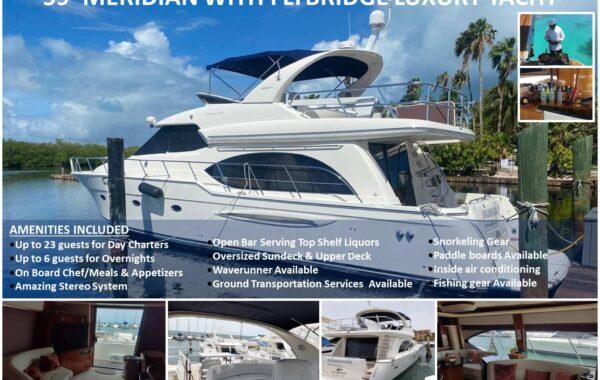 59′ Meridian With Flybridge Luxury Yacht