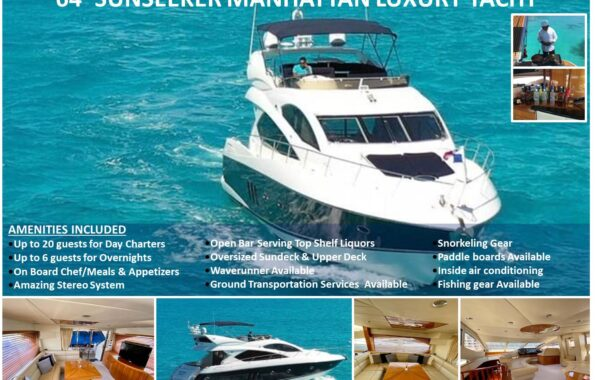 64′ Sunseeker Manhattan Luxury Yacht