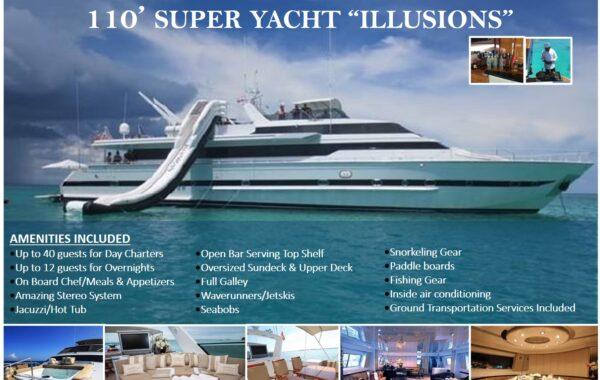 "110′ SUPER YACHT ""ILLUSIONS"""